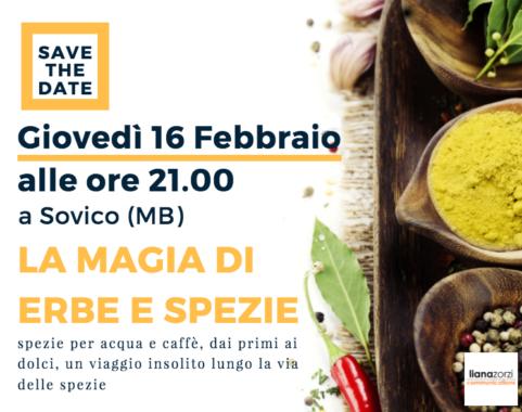 La magia di erbe e spezie - Sovico - 16 Febbraio