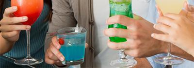 Attenzione a drink e cocktails