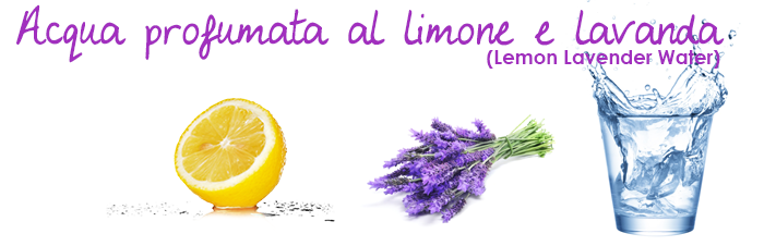 Acqua profumata al limone e lavanda