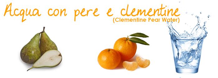Acqua con pere e clementine