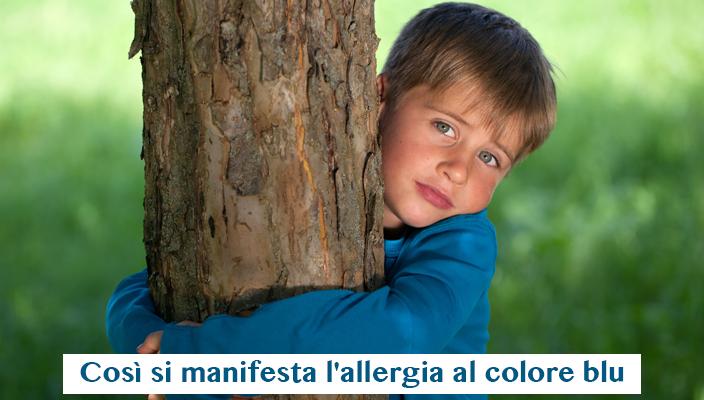 Allergia al colore blu