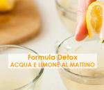 Detox acqua e limone