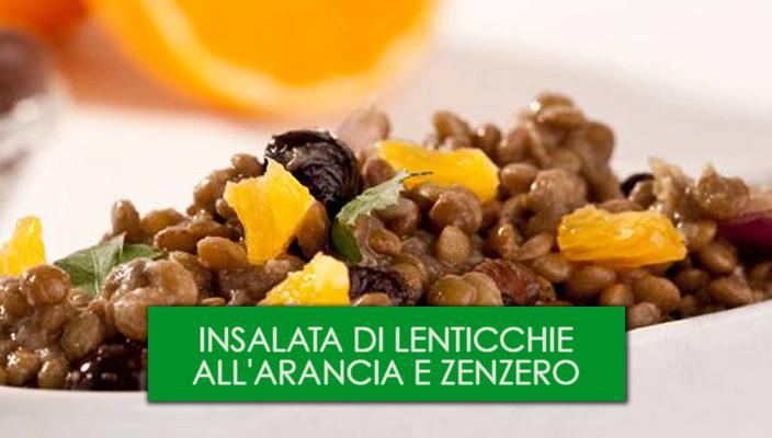 Insalata di lenticchie all'arancia e zenzero