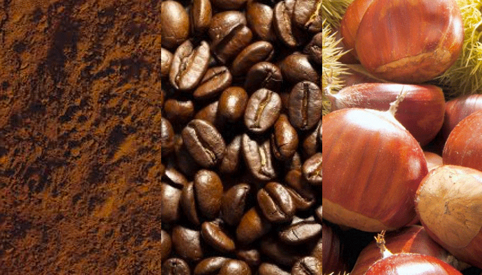 Marrone:cacao,caffè,castagne