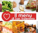 il menu di San Valentino