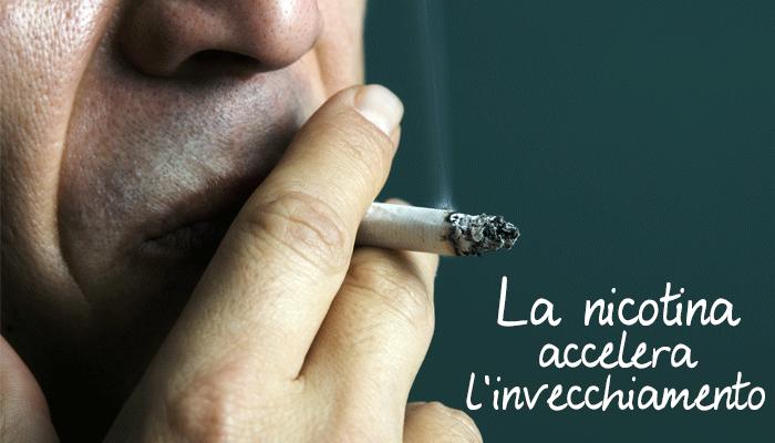 La nicotina accelera l'invecchiamento