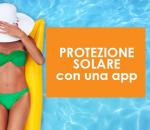 Protezione solare con una app